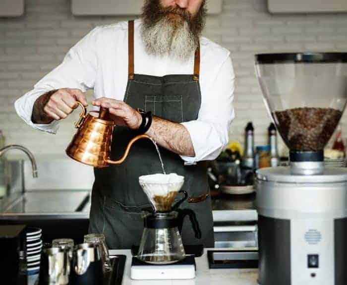 Kaffee mit dem Handfilter